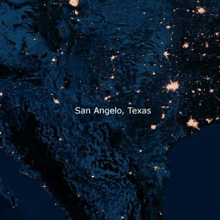 Texas At Night By By Satellite Map - Satellite map of texas